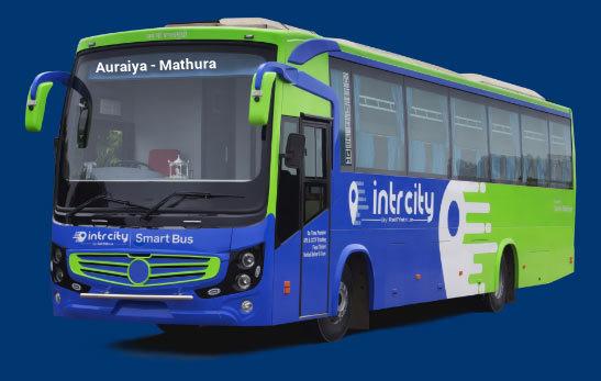 Auraiya to Mathura Bus