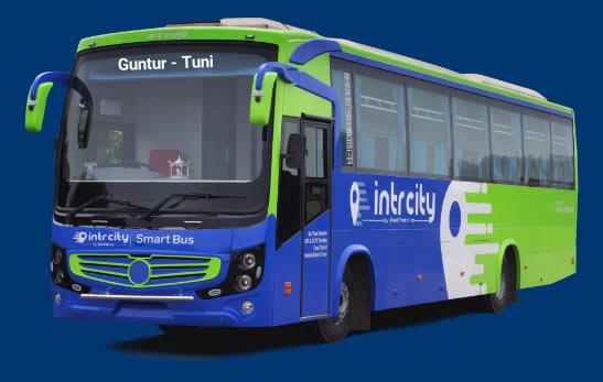Guntur to Tuni Bus