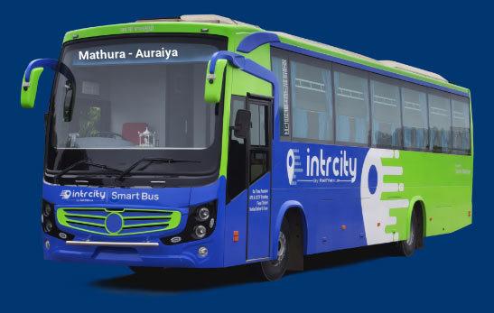 Mathura to Auraiya Bus