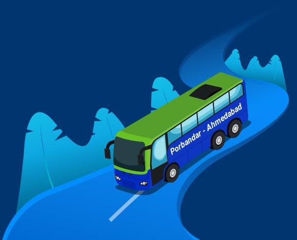 Porbandar to Ahmedabad Bus