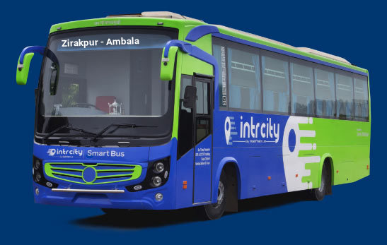 Zirakpur to Ambala Bus