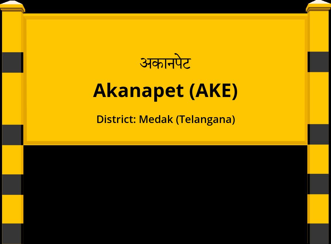 Akanapet (AKE) Railway Station
