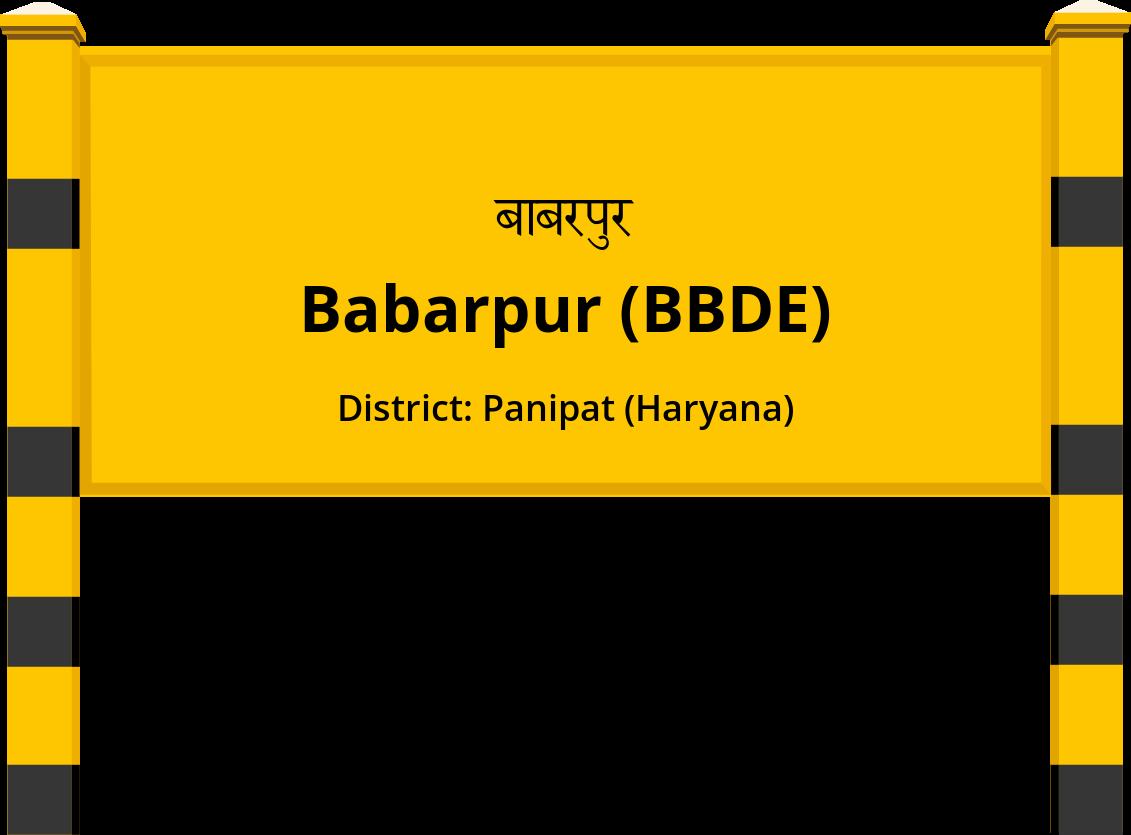Babarpur (BBDE) Railway Station