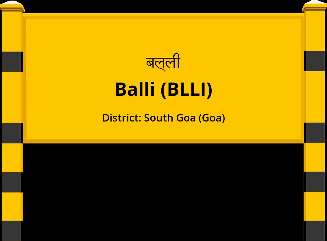 Balli (BLLI) Railway Station