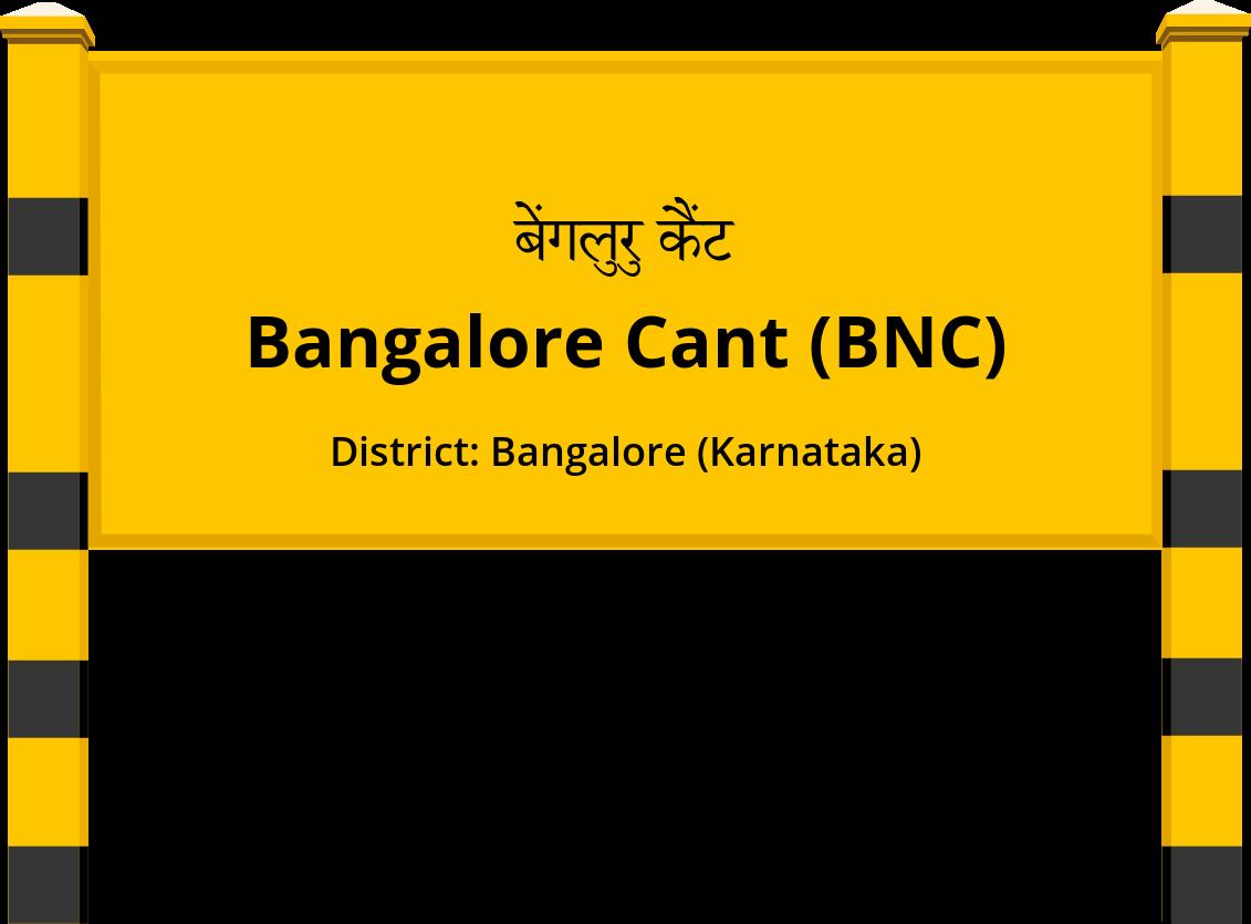 Bangalore Cant (BNC) Railway Station