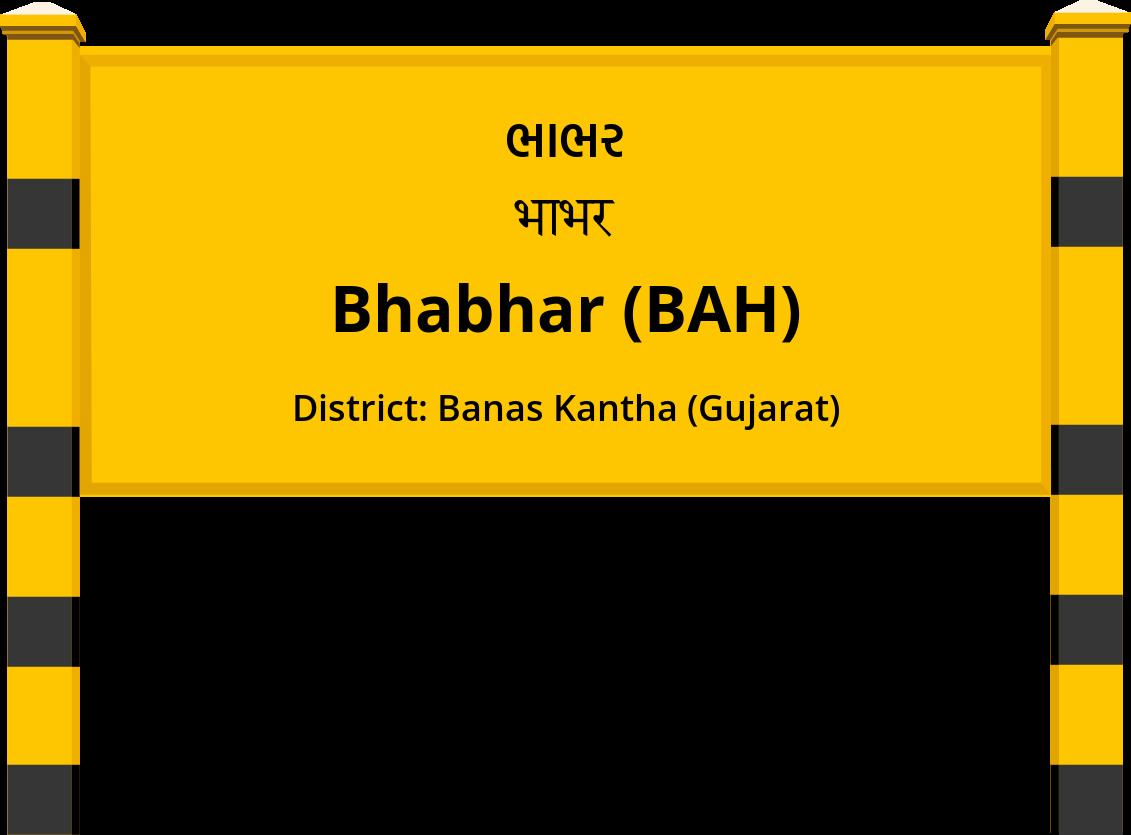 Bhabhar (BAH) Railway Station