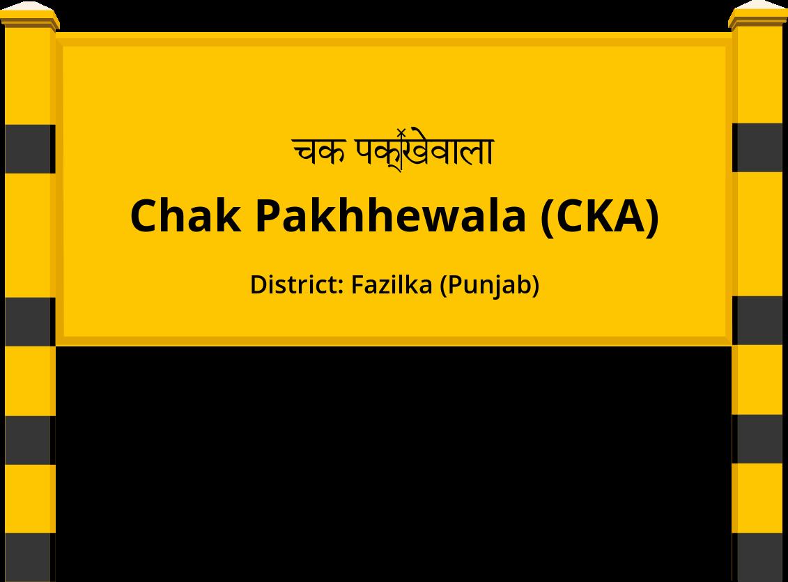 Chak Pakhhewala (CKA) Railway Station