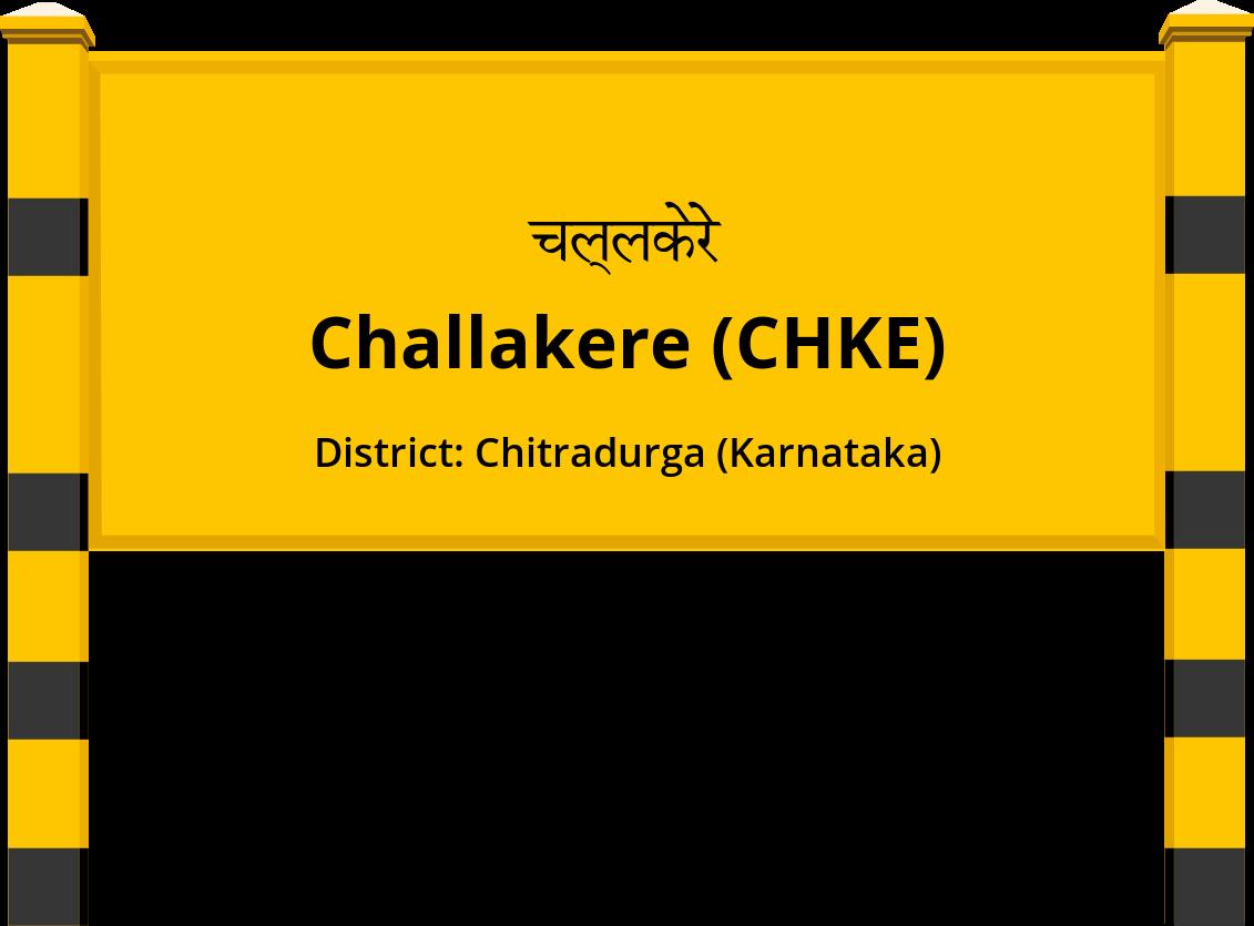 Challakere (CHKE) Railway Station