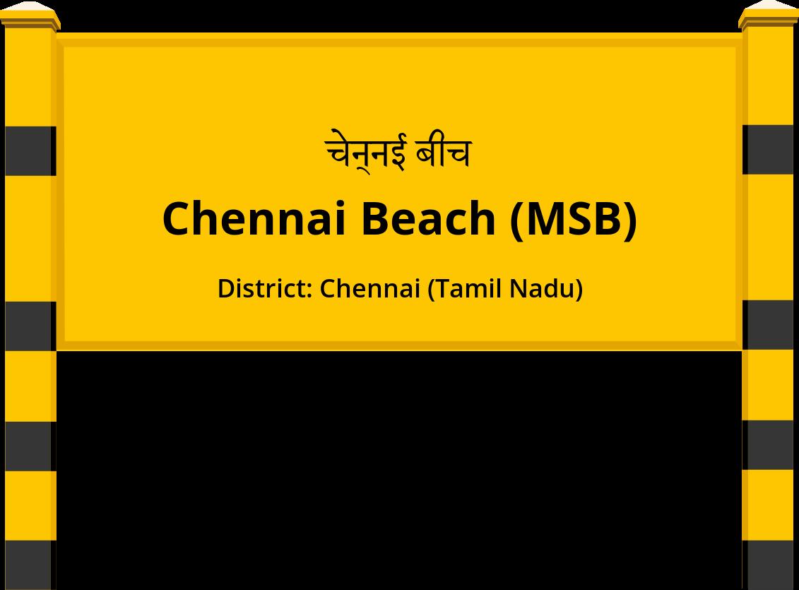 Chennai Beach (MSB) Railway Station
