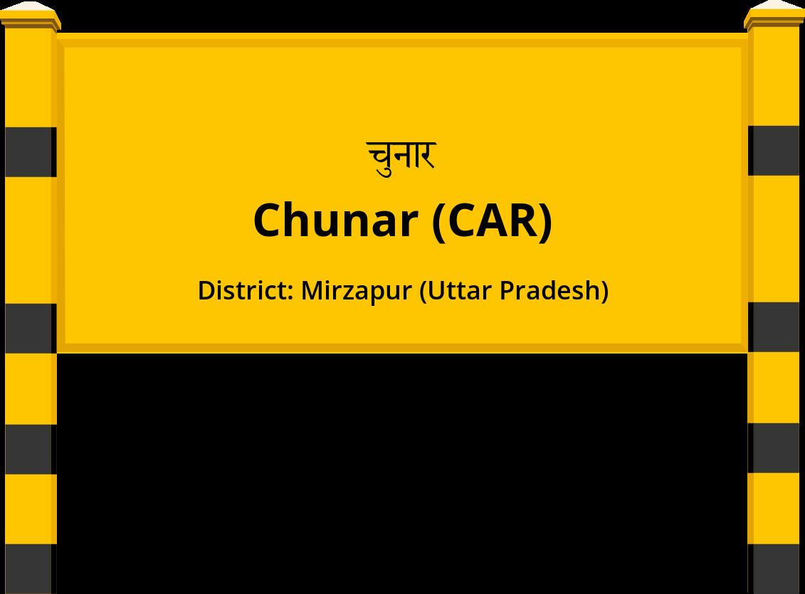 Chunar (CAR) Railway Station