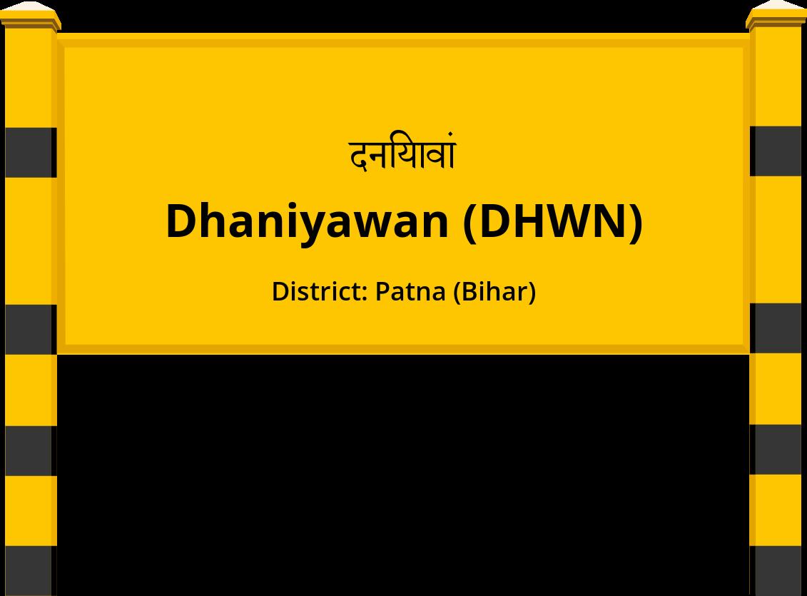 Dhaniyawan (DHWN) Railway Station
