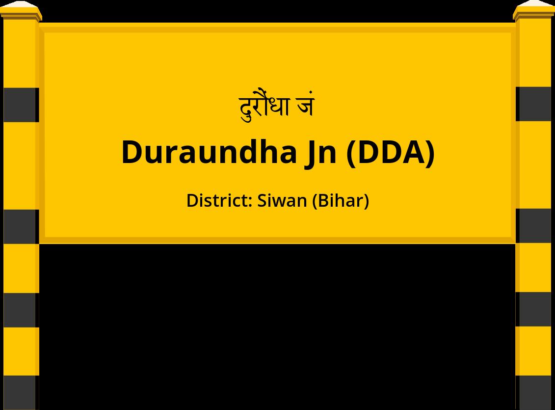 Duraundha Jn (DDA) Railway Station