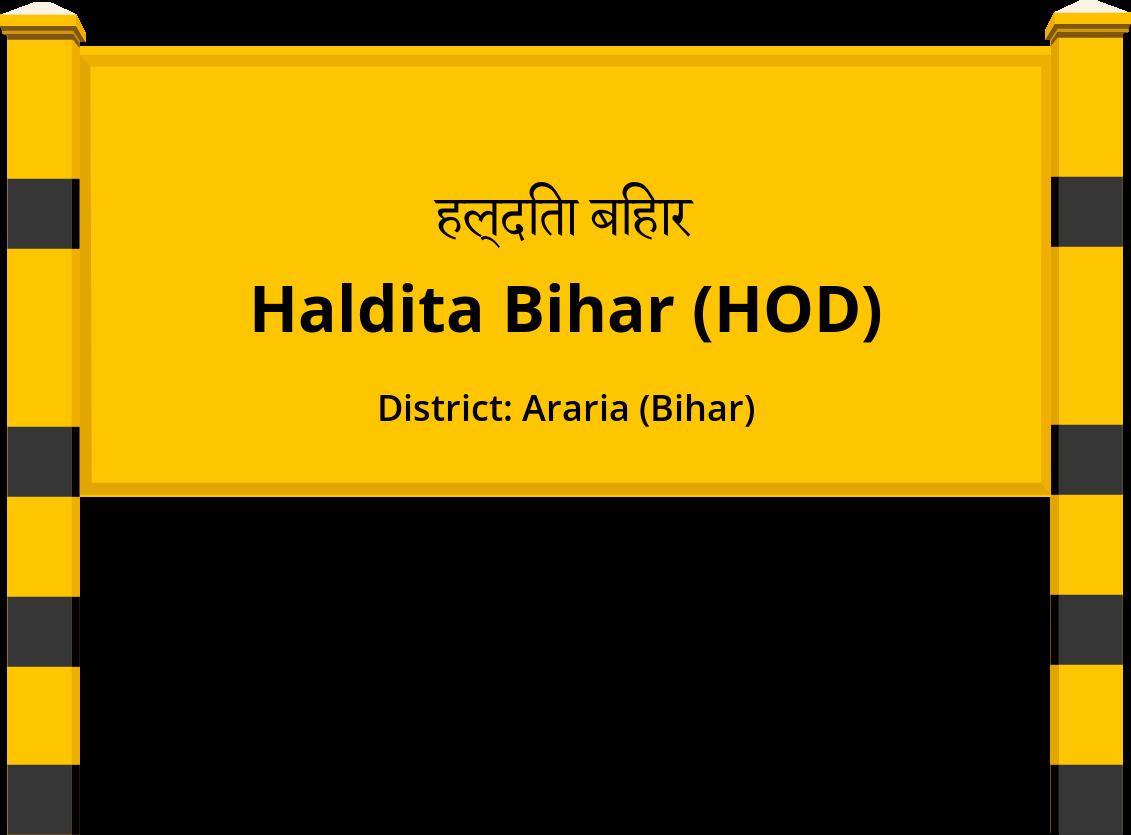 Haldita Bihar (HOD) Railway Station