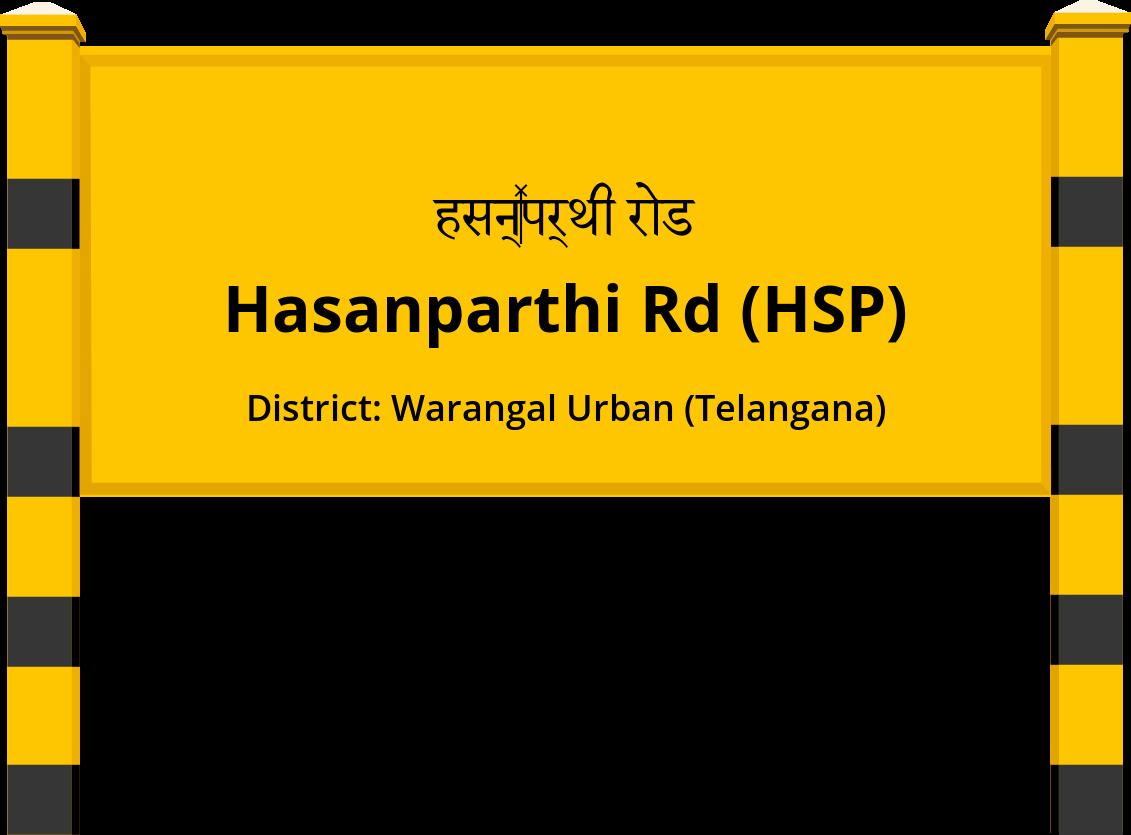 Hasanparthi Rd (HSP) Railway Station