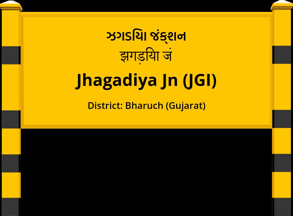 Jhagadiya Jn (JGI) Railway Station