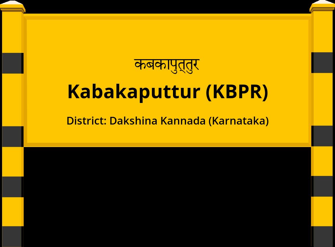 Kabakaputtur (KBPR) Railway Station