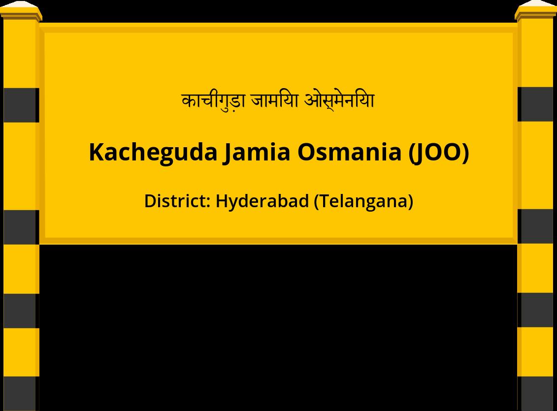 Kacheguda Jamia Osmania (JOO) Railway Station