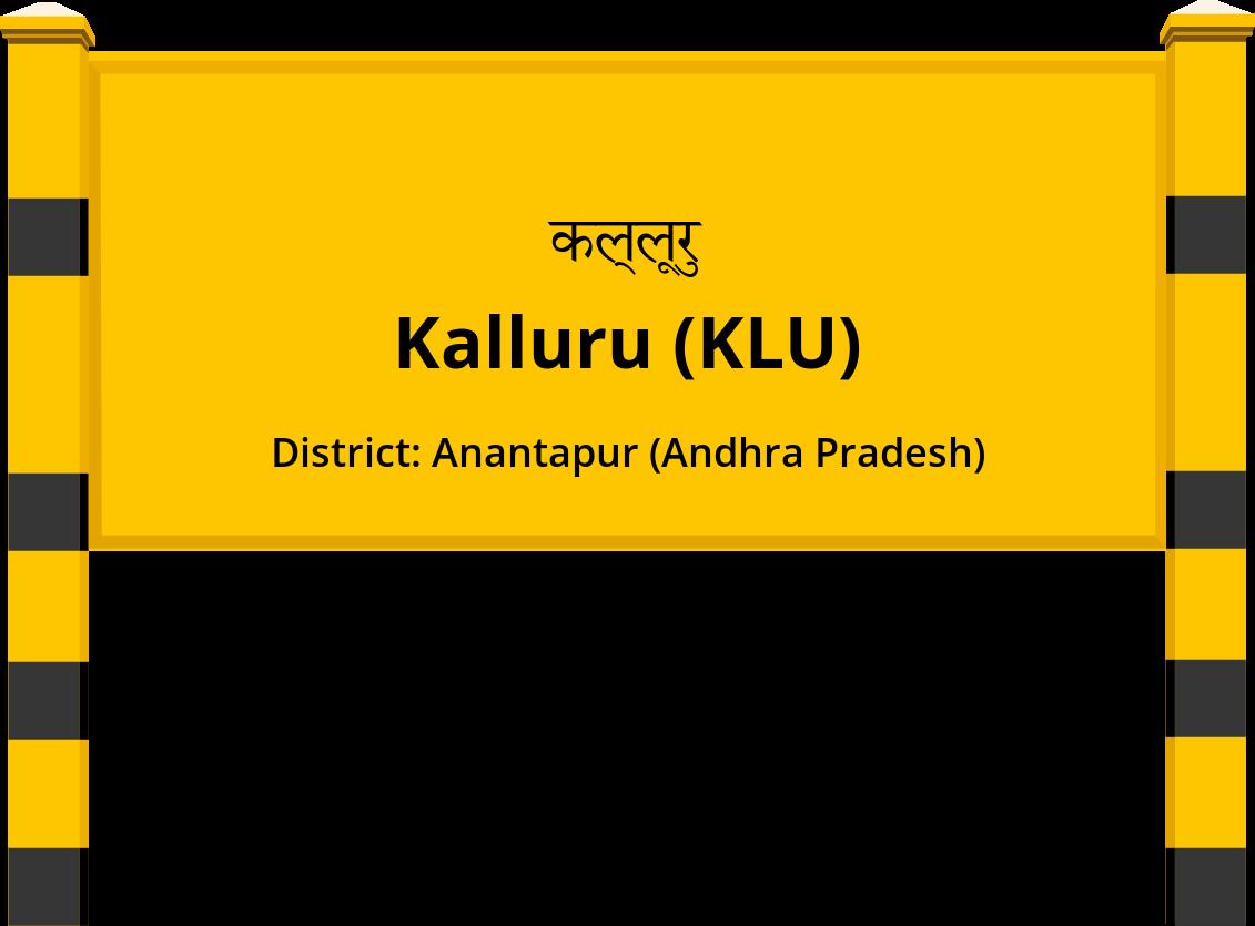 Kalluru (KLU) Railway Station
