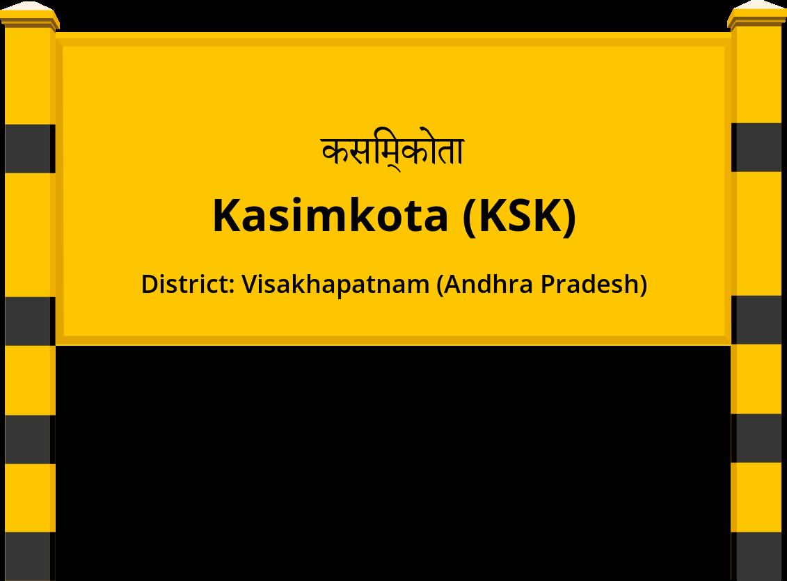 Kasimkota (KSK) Railway Station