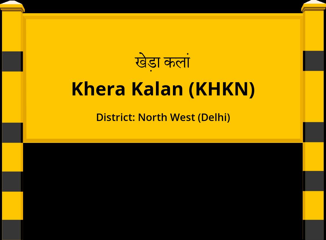 Khera Kalan (KHKN) Railway Station
