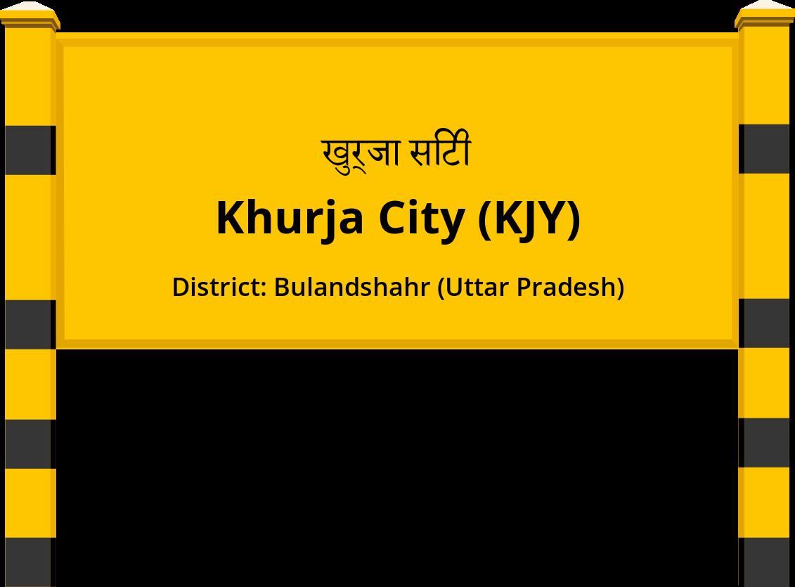 Khurja City (KJY) Railway Station