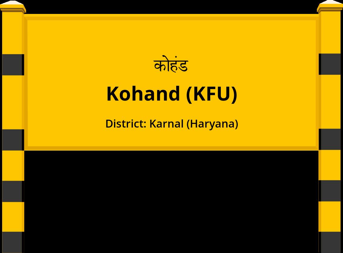 Kohand (KFU) Railway Station