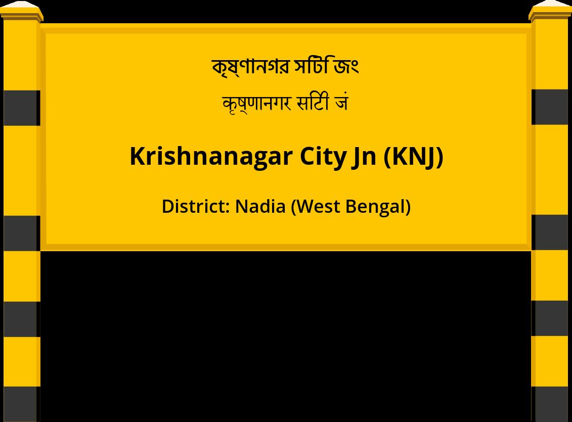 Krishnanagar City Jn (KNJ) Railway Station
