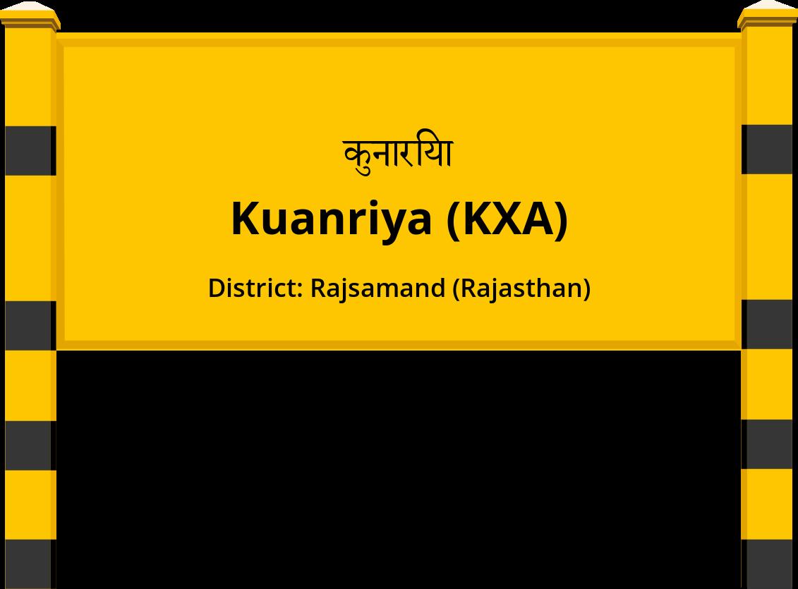 Kuanriya (KXA) Railway Station