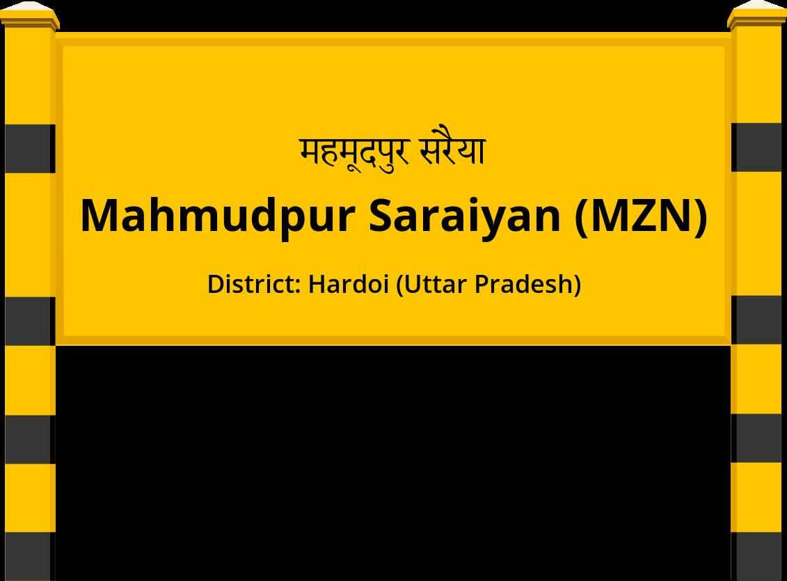 Mahmudpur Saraiyan (MZN) Railway Station
