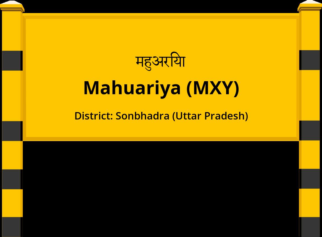 Mahuariya (MXY) Railway Station