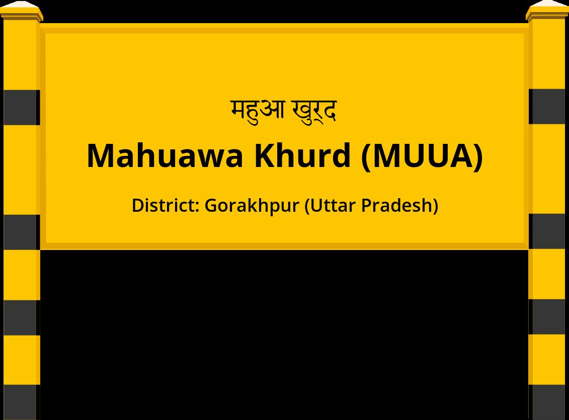 Mahuawa Khurd (MUUA) Railway Station