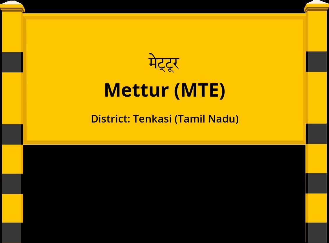 Mettur (MTE) Railway Station