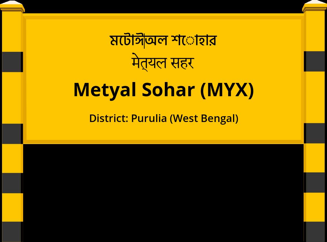 Metyal Sohar (MYX) Railway Station