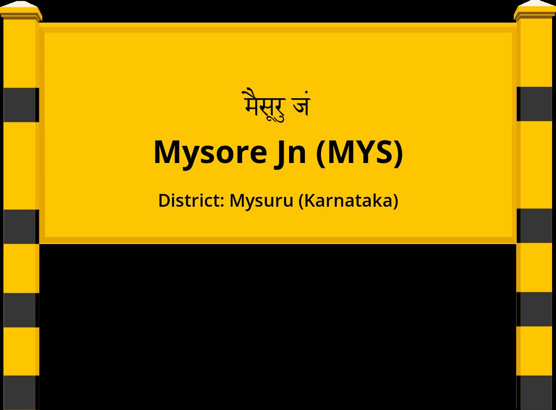 Mysore Jn (MYS) Railway Station