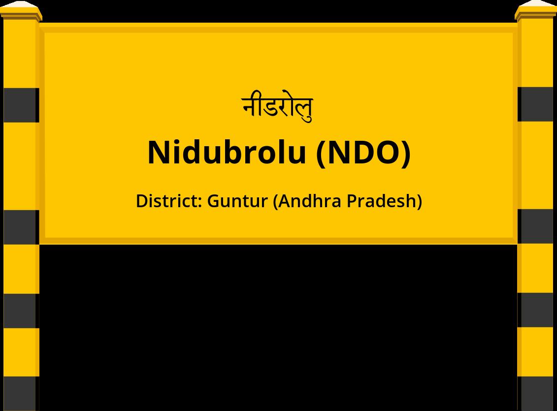 Nidubrolu (NDO) Railway Station