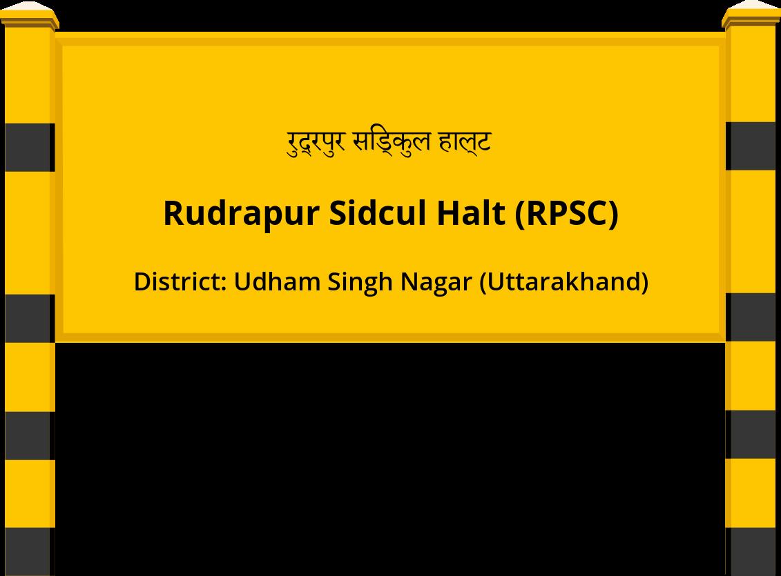 Rudrapur Sidcul Halt (RPSC) Railway Station