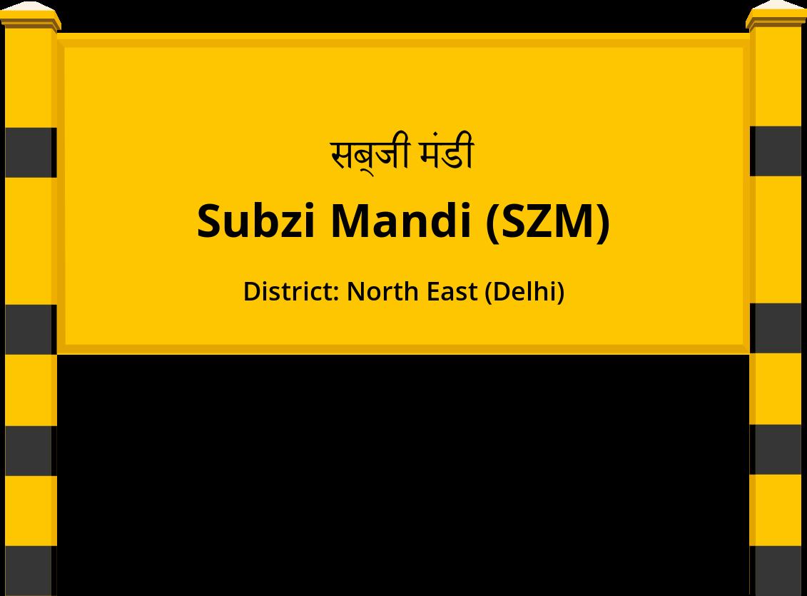 Subzi Mandi (SZM) Railway Station