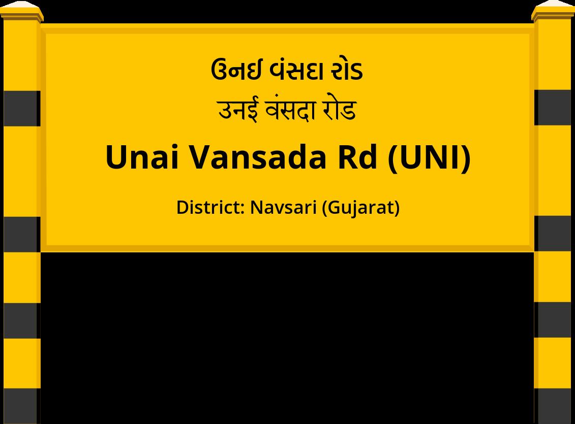 Unai Vansada Rd (UNI) Railway Station