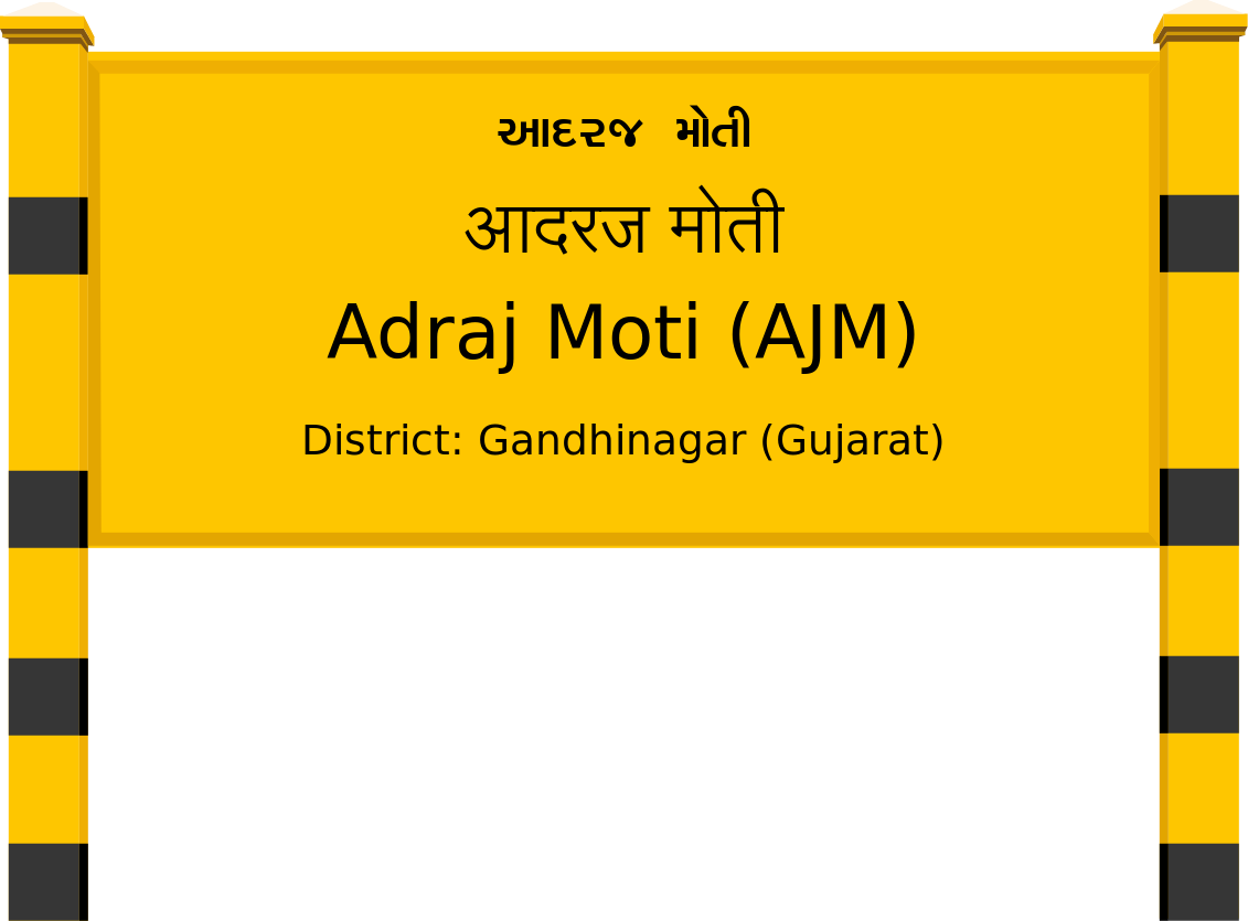 Adraj Moti (AJM) Railway Station