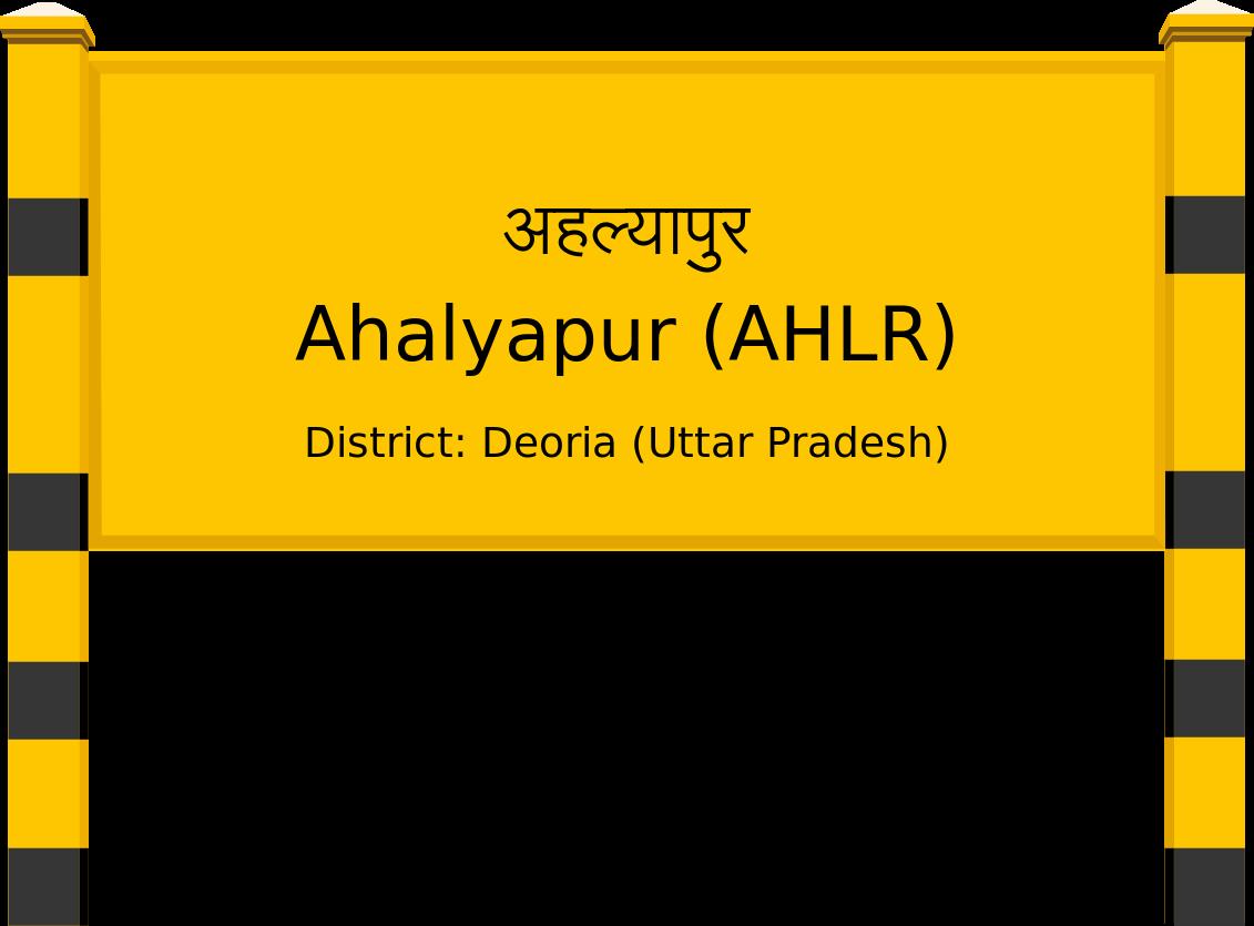 Ahalyapur (AHLR) Railway Station