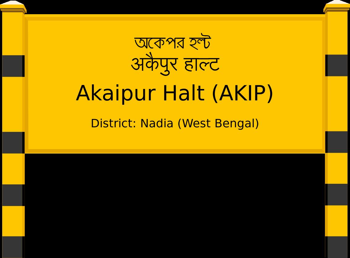 Akaipur Halt (AKIP) Railway Station