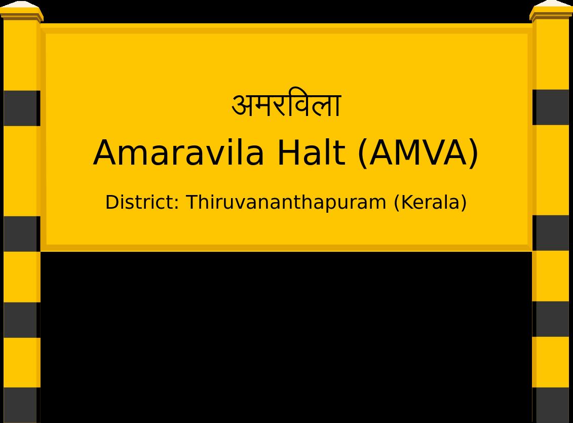 Amaravila Halt (AMVA) Railway Station