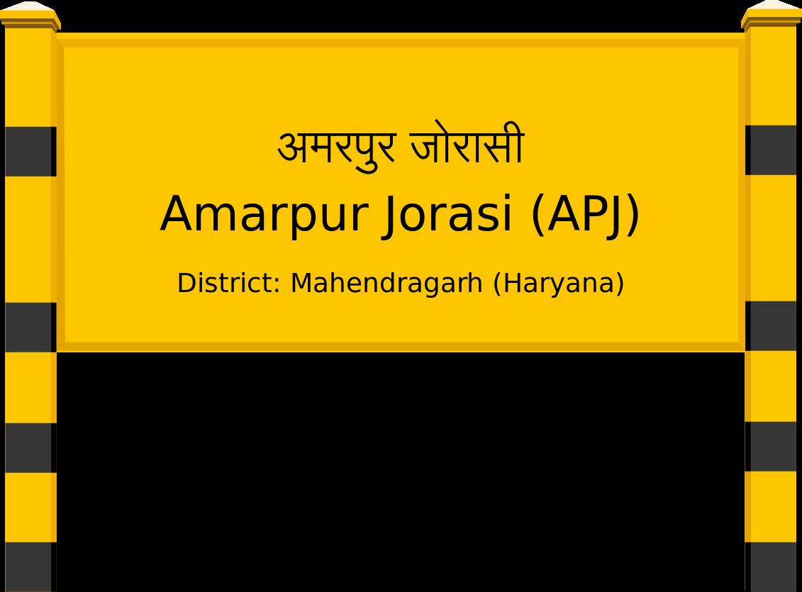 Amarpur Jorasi (APJ) Railway Station