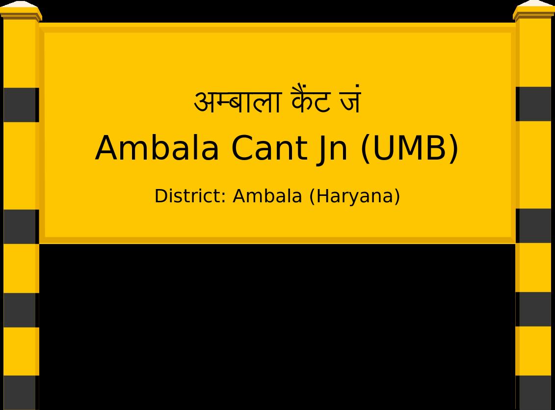 Ambala Cant Jn (UMB) Railway Station