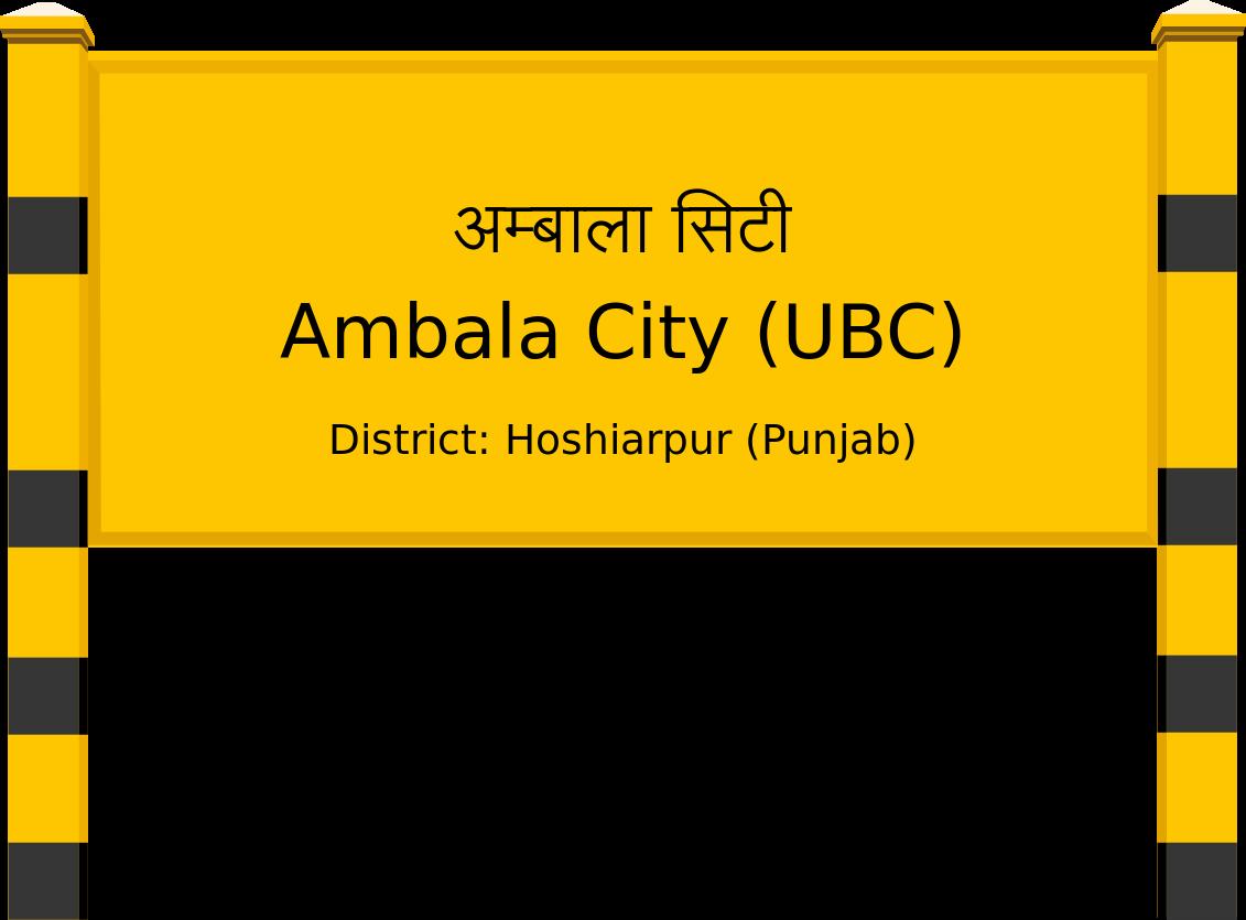 Ambala City (UBC) Railway Station