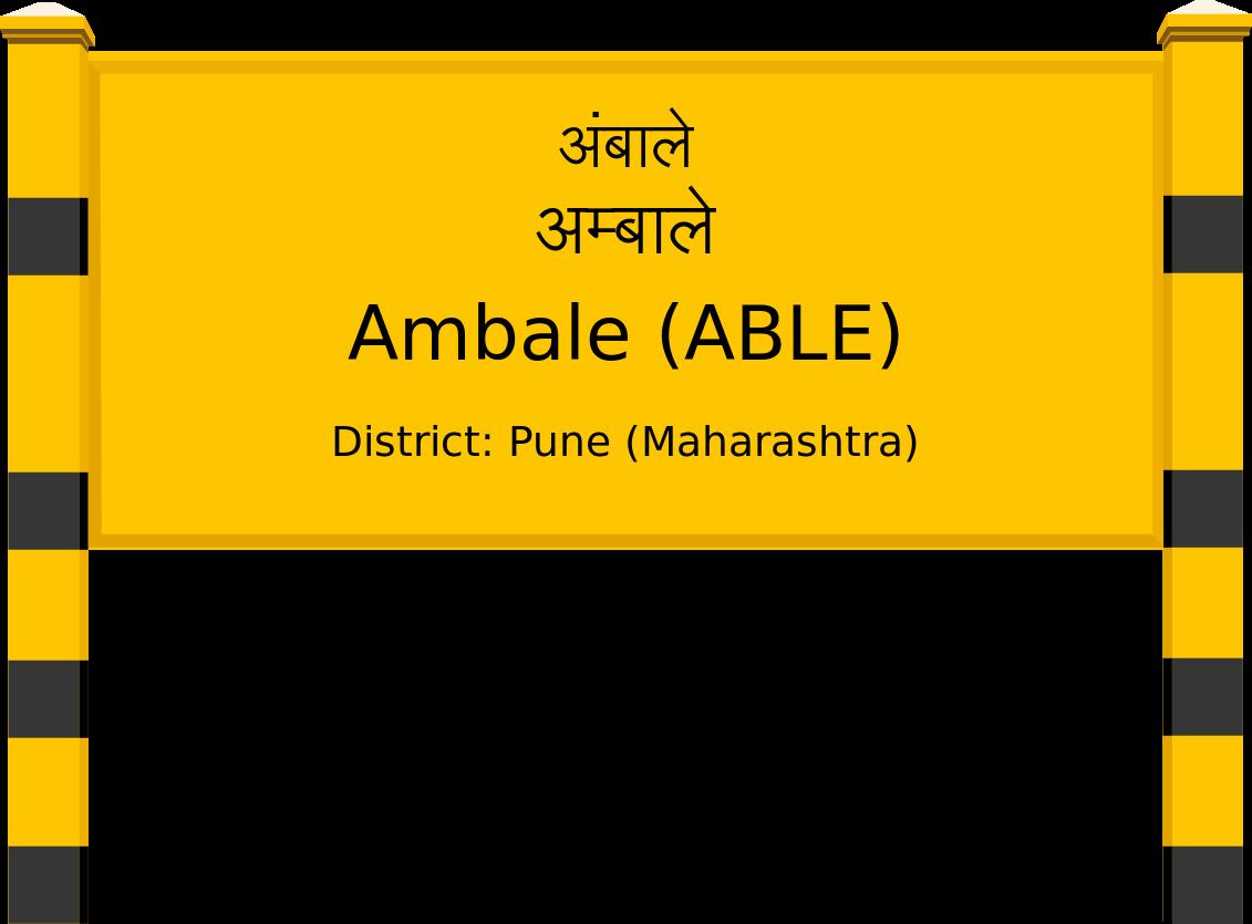 Ambale (ABLE) Railway Station