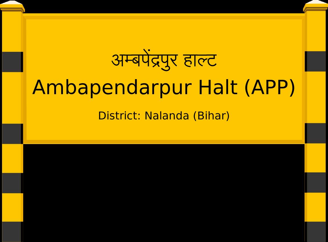 Ambapendarpur Halt (APP) Railway Station