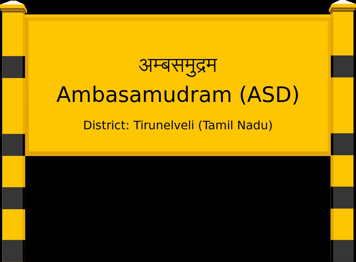Ambasamudram (ASD) Railway Station