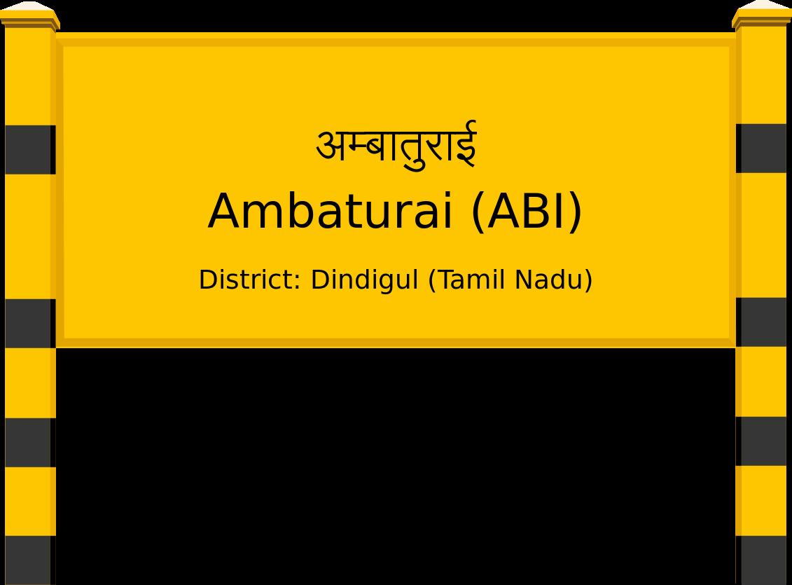 Ambaturai (ABI) Railway Station