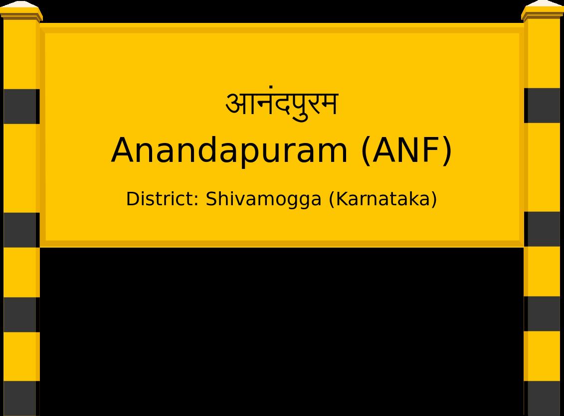 Anandapuram (ANF) Railway Station